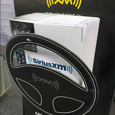 SiriusXM Steering Wheel Die Cut 2
