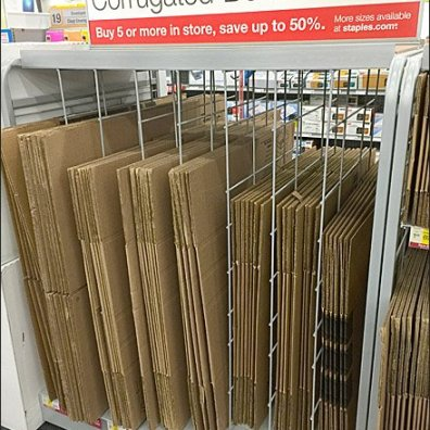 Staples Corrugated Box Dividers