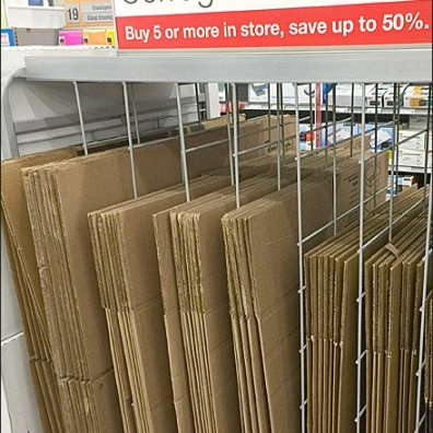 Staples Corrugated Box Dividers 2
