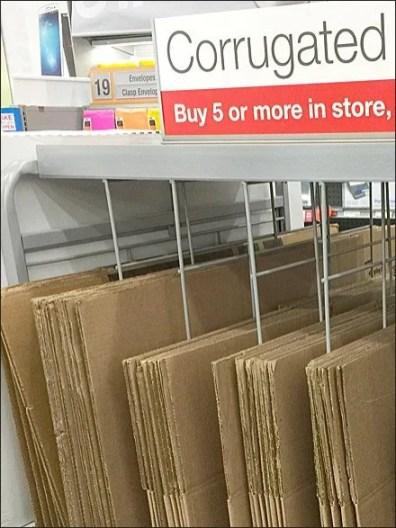 Staples Corrugated Box Dividers 3