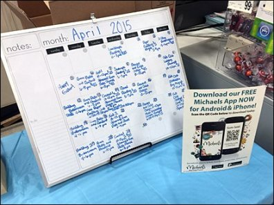 Whiteboard Calendar at Michael's Crafts