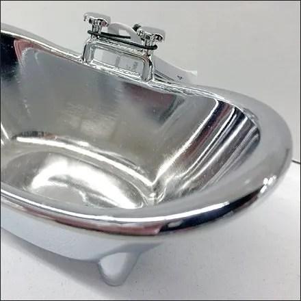 Bathtub Miniature With Side-Mount Faucet Detail