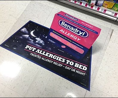 Benadryl Floor Graphic 3