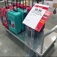 Diamond Plate Luggage Cart Front