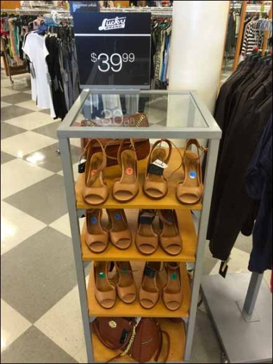 Oversize Shoe Labels Encourage Try-me's