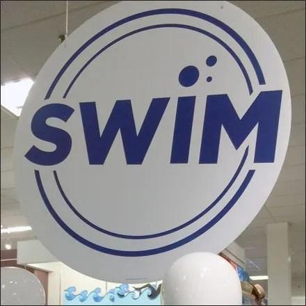 Swim Sign CloseUp Aux