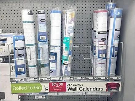 Wall Calendar Pegboard Rack Main