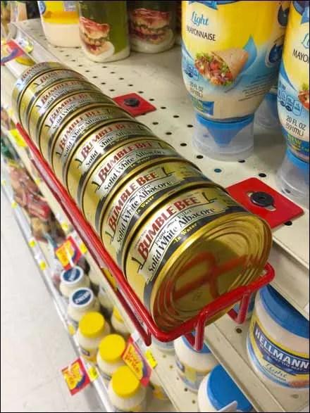 Bumble Bee Shelf Edge Wire Rack