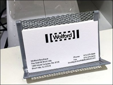 Wolford Business Card Holder Propped