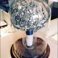 Bell Jar Brooch Bouquet Jewelry Display