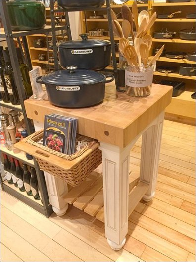 Butcher Block with Wicker Drawer Overview