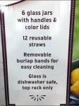 Mason Jar Summer Glass Set List