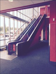 Target Cart Escalator in Motion