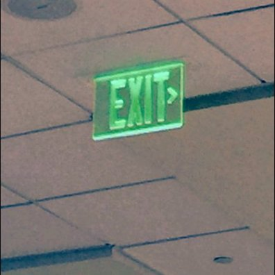 Emergency Exit Sign in Green