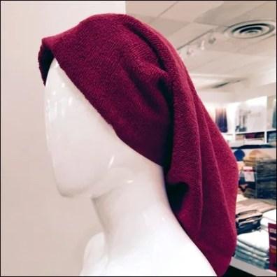 Hair Towel for Bath Display