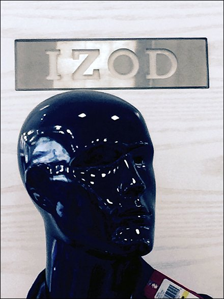 Izod in a Word Retail Branding