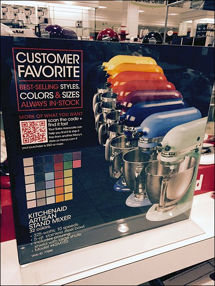 KitchenAid In-Store Color Array