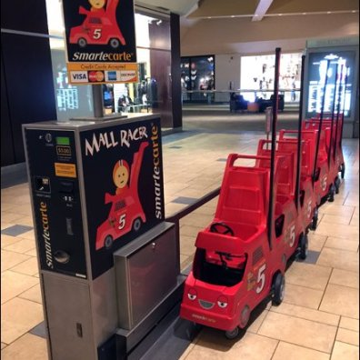 Mall Cart Lacks Storage Space