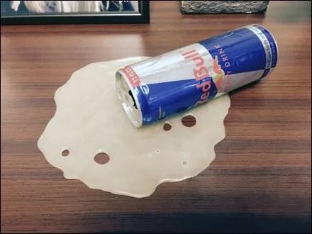 Redbull Spill in Aisle 3