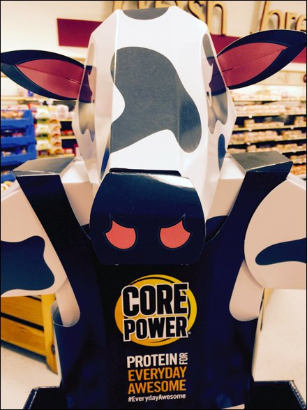 Point-of-Purchade Cow Power for Milk Display