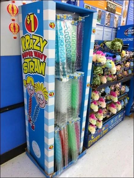 Krazy Straw Corrugated Display