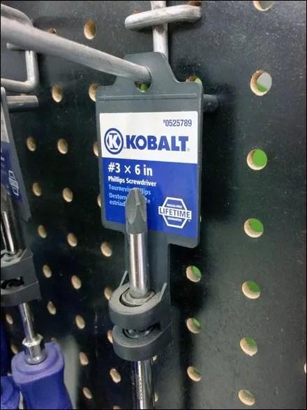 Kobalt Screwdriver Scabbard Self-Merchandising