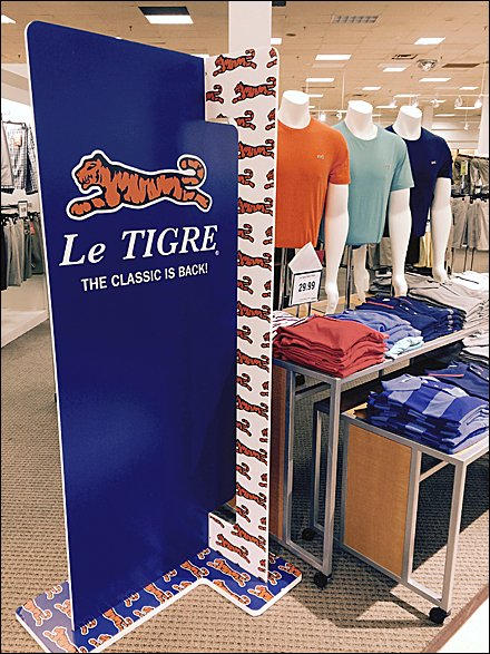 Le Tigre® As Floor Stand Display