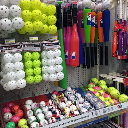 Baseball Pegboard Hook and Fence Merchandising