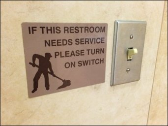 Restroom Needs Cleaning Callout Switch Main