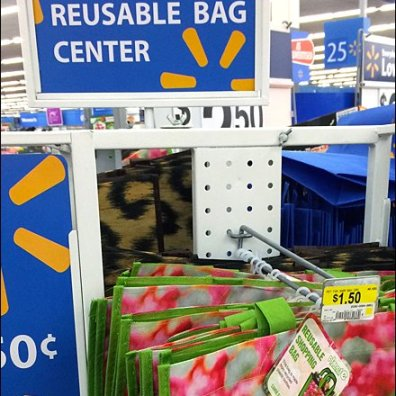 WalMart Reusable Bag Center Display