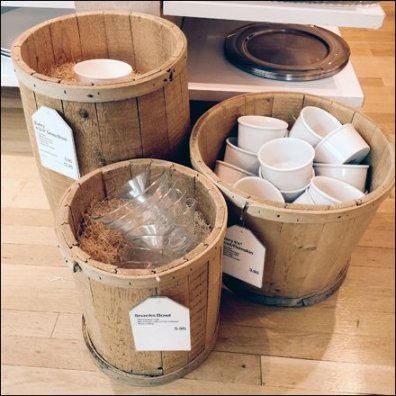 Tableware Baskets, Barrels, and Kegs
