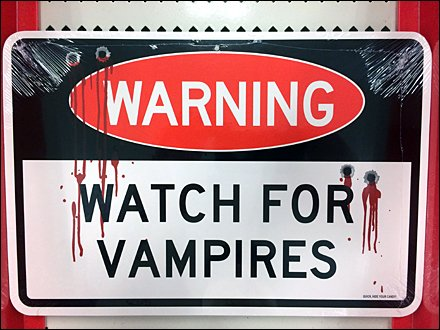 Watch Out for Halloween Vampires In-Store