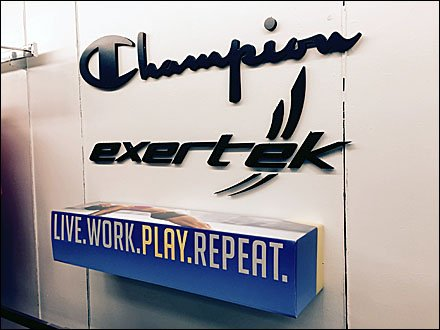 INDEX: Champion Retail Fixtures - Champion® Live-Work-Play-Repeat Wall-Mount Dimensional