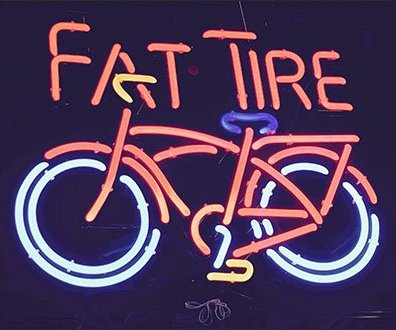 Fat Tire Brand in Neon