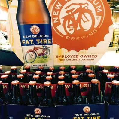 Fat Tire Branded Beer Overall Display 2