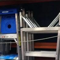 Interlocking Ladder Display on Pallet Rack 3