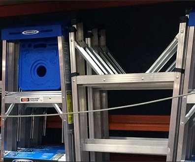 Interlocking Ladder Display on Pallet Rack 3