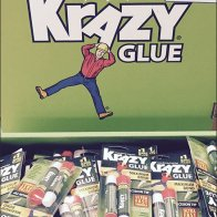 Krazy Glue Branded Corrugated Dimensional Display 3