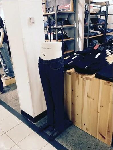 Levi's Insures Fit: Brands Own Dress Form