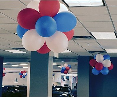 Mercedes Dealership Balloon Decor 2