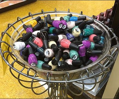 Ornate Wire Nail Polish Bulk Bin Pedestal