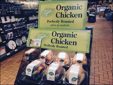 Organic Chicken Merchandising Sign 1