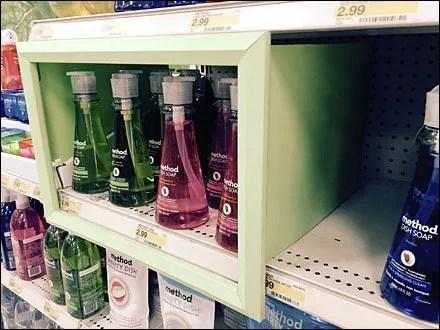 Picture Frame Shelf Merchandising Focus
