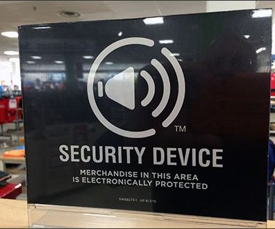 Sophisticated Anti-Theft Warning Sign
