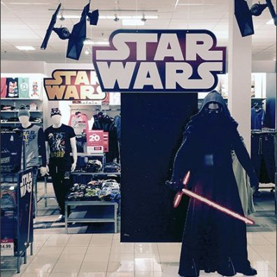 Star Wars Dark Side Branding in Retail