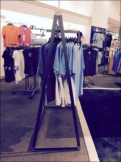 Triangular Apparel Rack 1