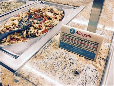 Allergens Alert at Food Buffet 2