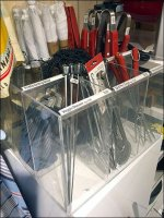 Cooking-Utensil Divided Acrylic Bins