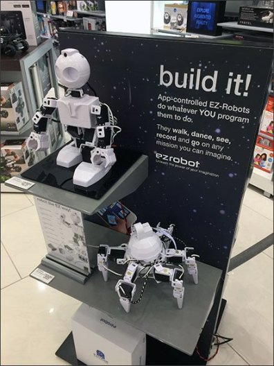 EZ Robot Build It Display