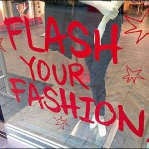 Flash Your Fashion Window Cling